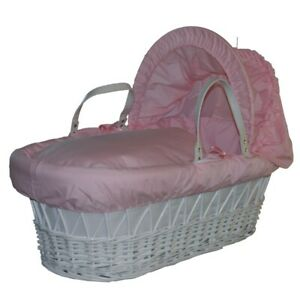 Pink Moses Basket Dressing Set