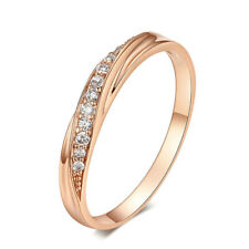 Zirconia Rose Gold Fashion Jewelry Ld Women Wedding Ring Lovers Simple Cubic