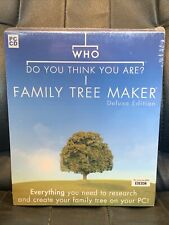 More details for who do you think you are family tree maker deluxe edition (pc cd) ~ new & sealed