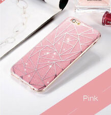 Soft TPU Bumper Case Diamonds Pattern Glitter Hard Cover For iPhone 8 X 7 6s +