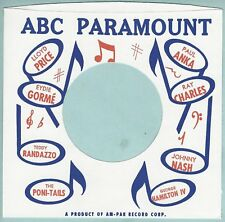 ABC PARAMOUNT REPRODUCTION RECORD COMPANY SLEEVES - (pack of 10)