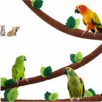 Bird Stand Perch Hanging Bridge Cage Toy Budgie Pet Platform Parrot Swing Rope