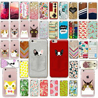TPU Case Cover SE Funda Carcasa Slim Pattern Protective For iPhone 5s 6s 7 PLUS