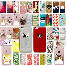 Etui Housse Coque Pattern Case Cover SE TPU Thin Soft For iPhone 5 6 6s 7 PLUS