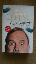 SIGNED SO ANYWAY BY JOHN CLEESE NEW Monty Python Fawlty Towers Hardback 1st Edt.
