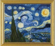 New STAMPED Cross Stitch Kits-Van Gogh's painting-STAR SKY