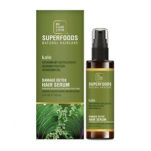 Be.Care.Love Kale Damage Detox Leave-In Hair Serum 2oz / 60ml Sulfate-Free Vegan