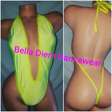 EXOTIC DANCEWEAR THONG COSTUME size medium / large READ DESCRIPTION  NEON