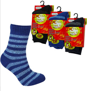 Childrens Kids Boys Extreme Thick Thermal Socks Striped TOG 2.45 Winter Warm