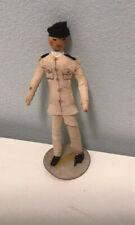 4� Doll Original Ravca Military Man 1940s Crepe Paper