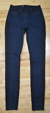 3x1 W2 Mid Rise Skinny Rare Black & Blue Colorblock Stretch Denim Jeans Size 25
