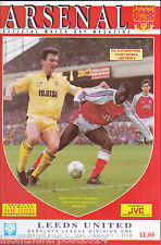 1990/91 ARSENAL V LEEDS UNITED 17-03-1991 Division 1 (Very Good)