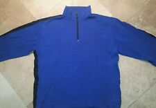Nautica Competition 1/4 Zip Pullover Sweater 100% Cotton Blue XL
