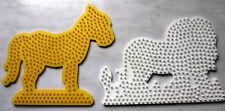 2 x Steckplatte für Bügelperlen Löwe Pferd und über 500 Gramm Bügelperlen