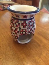 PartyLite Quilted Aroma Melts Warmer P7032 Nice Condition Americana Patriotic