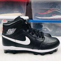 New Nike Air Jordan 1 Retro MCS Baseball Cleats Black AV5354-001 Men's Size 13