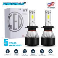 2x H7 LED Headlight Kit 1320W 198000LM High-Low Beam Bulb CREE 6000K Lamp White