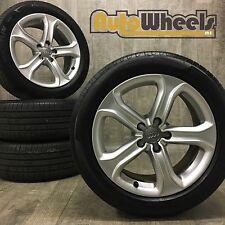 4 17 Genuine Audi A4 Technic Alloy Wheels complete with tyres