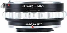 Nikon G AF-S Lens to Micro 4/3 M4/3 EP5/3 GF1/2 G1 GX7 AI(G)-M4/3 Mount Adapter