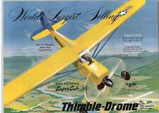1959 PAPER AD Civil Air Patrol Super Cub Thimble Drome Cox Gas Motor Airplane