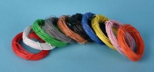 Red wire, (7 x 0.2mm) 10m, GM11R, any gauge