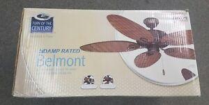 Belmont Indoor/Outdoor Ceiling Fan Turn of the Century Rattan-Brand New!