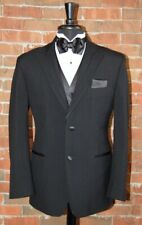 Mens 42 L Black Rio by Perry Ellis Tuxedo Jacket and Pant