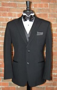 Mens 44 XL Black Rio by Perry Ellis Tuxedo Jacket and Pant