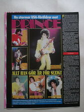 Prince Rogers Nelson Magnus Uggla cuttings clippings Sweden 1980s