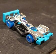 2018 Hot Wheels #58 Super Chromes 4/10 FLASH DRIVE Chrome/Teal w/Blue Wheel 5Sp