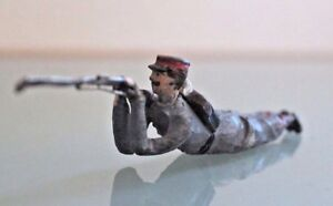 Soldier Old Lead CBG Mignot Puller Lying Kepi Red Years 50