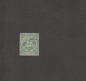BR GUYANA 1863/76 FRIGATTE 24c IMPERF PROOF USED SG ILLUSTRATION 9