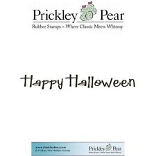 Prickley Pear Cling Rubber Stamp  HAPPY HALLOWEEN 2 Whimsical