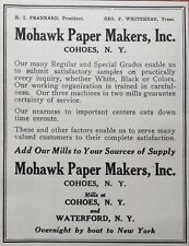 1924 AD(G4)~MOHAWK PAPER MAKERS, INC. COHOES, NY. PAPER MILL CO.