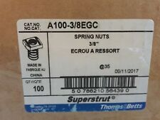 Lot of 105+ Thomas And Betts A100-3/8EGC Spring Nut Superstrut