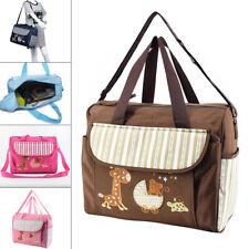 Baby Nappy Changing Bag Set Mummy Shoulder Handbag Diaper Mat Bottle Bag Set