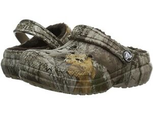 **NEW Crocs Winter Lined Realtree Edge Clogs Shoes Camo 205378-280 Size MENS 12