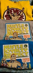 2014-2015 WWE John Cena T-shirts Lot of 3 Size 2XL. Yellow, Blue and Gray