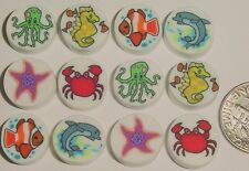 Sea Creatures HM Polymer Fimo Clay Bead