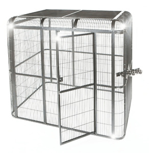 A&E Cage STAINLESS-STEEL - Walk-in Aviary 86'' x 62'' x 79''