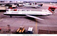 British Airways Trident 3  at London Heathrow airport Terminal One