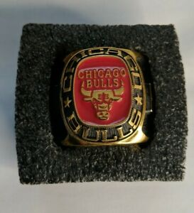 Chicago Bulls Ring Paperweight by Balfour Red, black and gold colored