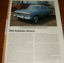 ★★1964 STUDEBAKER DAYTONA SPECS INFO PHOTO 64 289 R1 R2★★