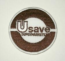 Vintage U Save Supermarkets Food Stores Logo Patch New NOS 1980s