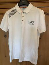 Mens Emporio Armani EA7 White Polo Shirt Size Small