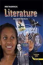 Holt McDougal Literature American Literature :Student Ed. Grade 11 Very Good PE