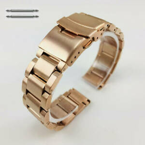 Rose Gold Metal Replacement Band Fits Nixon Watch Double Locking Clasp #5000RG