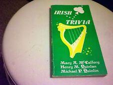 Irish Trivia McCaffery & Quinlan 1985 Paperback