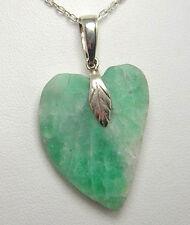 Colombian Emerald Pendant Natural Rough Heart Shape 18.90 Cts Silver 950 Muzo M