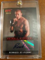 Georges St Pierre 2010 Topps UFC Notable Nicknames Autograph Rare SP /25